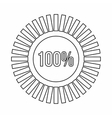 Sign 100 download icon outline style vector image vector image