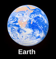 space earth planet icon realistic style vector image
