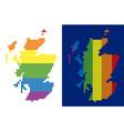 spectrum pixel dotted scotland map vector image vector image