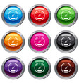 speedometer set 9 collection vector image vector image