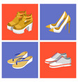 summer mode shoes set poster vector image