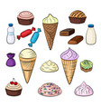 sweet food set vector image vector image