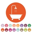 The shower icon Bathroom symbol Flat vector image