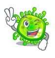 two finger cartoon microba virus bacteria in body vector image