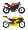 two sport bikes isolated on white background vector image vector image