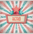 vintage faded background retro stripes or beams vector image vector image