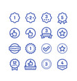 Warranty stamps line icons goods durability