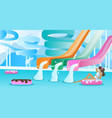 water slide pool background vector image vector image