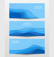 web trendy horizontal banners set vector image