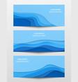 web trendy horizontal banners set vector image vector image