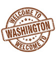 welcome to washington vector image vector image