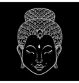 white Portrait of Buddha for ornamental adult vector image