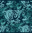 sea waves seamless pattern vector image