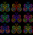 Butterflies of the springs and zigzags vector image