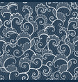 seamless white lace ornamental pattern with curls vector image