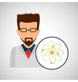 character scientist chemistry molecular vector image