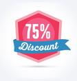 75 discount badge vector image