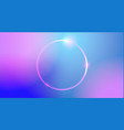 abstract color trendy background with neon round vector image