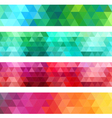 abstract geometric banner background set vector image vector image