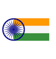 abstract india flag sign vector image vector image