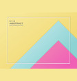 abstract of blue pink and yellow gradient paper vector image