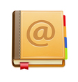 address book icon vector image