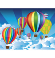 Air Balloons in the Sky vector image vector image