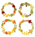 Autumn leaves wreaths with acorns and berries vector image vector image