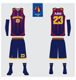 basketball uniform template design vector image vector image