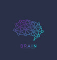brain logo silhouette design template with vector image