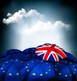 Brexit concept Union jack umbrella between EU vector image