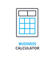 business calculator concept outline icon linear vector image vector image