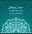 card with beautiful ethnic mandala with a floral vector image vector image