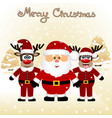 christmas card funny postcard with christmas vector image vector image