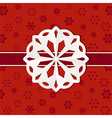 Christmas paper snowflake background vector image vector image