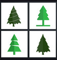 christmas tree set green vector image