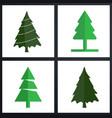 christmas tree set green vector image