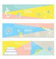 collection of colorful banners back to school vector image vector image