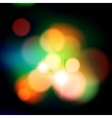Colorful background with defocused lights vector image