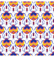 colorful beetle seamless pattern vector image vector image