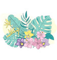 colorful tropic flowers vector image