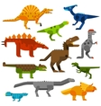 Cretaceous dinosaurs ground cartoon vector image vector image