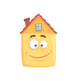 cute house cartoon character with smiling happy vector image vector image