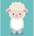 cute sheep animal farm isolated icon design vector image
