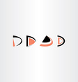 d letter logo d set collection icon vector image
