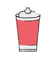 doodle delicious fresh soda plastic cup vector image vector image