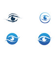 eye care logo and symbols template icons vector image vector image