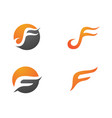 f letter faster logo template vector image vector image
