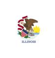 flag usa state illinois vector image vector image