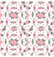 Floral Background Seamless Pattern Flowers vector image vector image